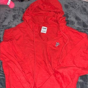 Thin red hoodie from Pink
